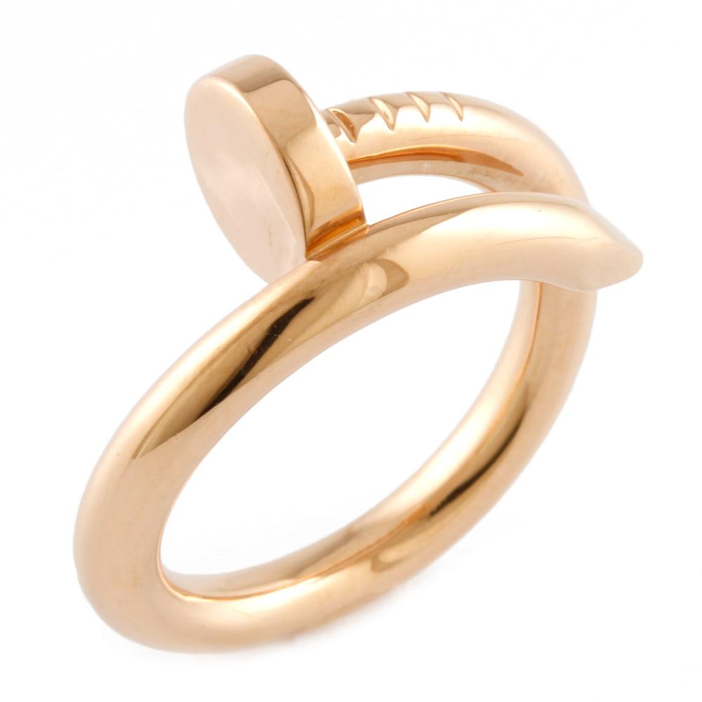 【送料無料】【中古】 CARTIER カルティエ K18PG リング 指輪 釘 ジュスト アン クル #49 6.5号 レディース おしゃれ かわいい おすすめ ギフト プレゼント 18金 K18ピンクゴールド【BJ】