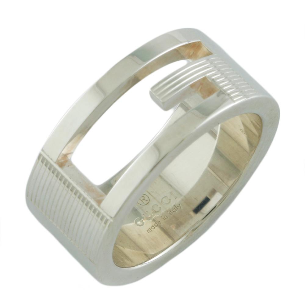 ジュエリー グッチの リング 指輪 送料無料 中古 GUCCI グッチ SV925 Gマーク Gリング 7.5号 日本未発売 BIM シルバー925 シルバー かわいい 在庫一掃 BJ おすすめ プレゼント #8 おしゃれ レディース ギフト