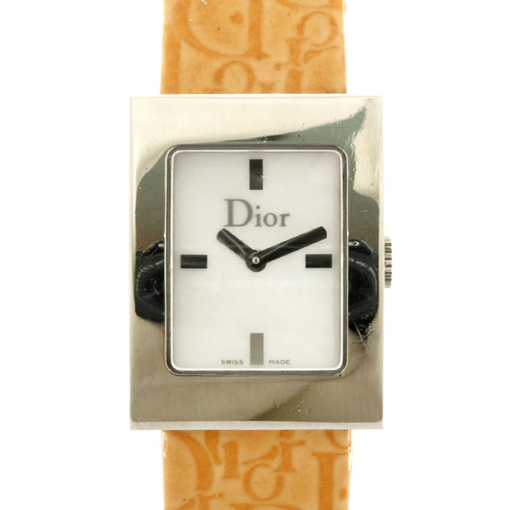 ブランド品 クリスチャンディオールの 国内即発送 腕時計 送料無料 中古 Christian Dior クリスチャンディオール SS 替えベルト マリス D78-109 プレゼント シルバー パテントレザー レディース オレンジ SALE おすすめ おしゃれ BIM かわいい ギフト ステンレススチール