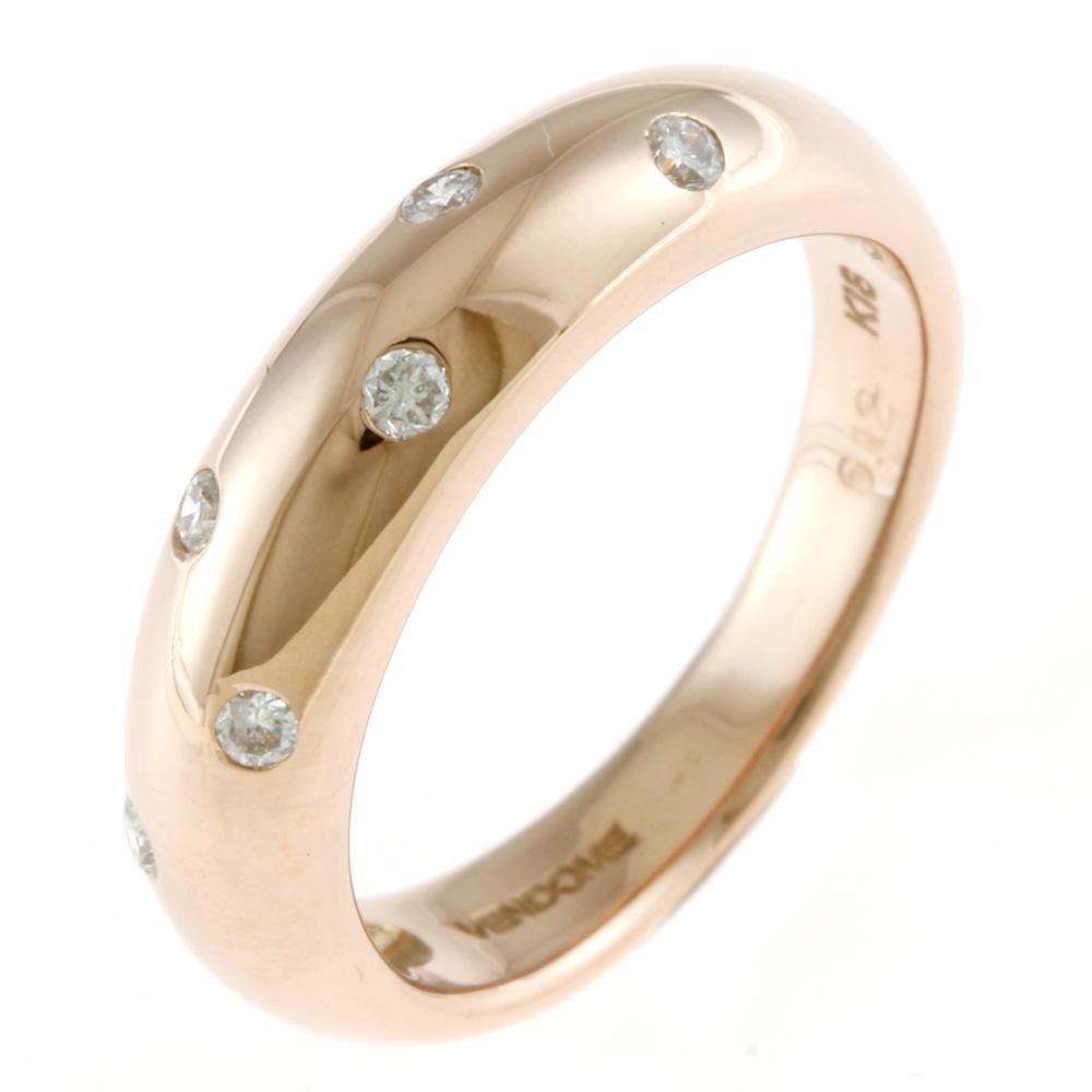 ジュエリー ヴァンドームの リング 指輪 送料無料 中古 VENDOME ヴァンドーム K18PG ダイヤモンド 激安通販販売 9号 プレゼント レディース かわいい 18金 ピンクゴールド BIM ギフト おすすめ K18ピンクゴールド おしゃれ 交換無料
