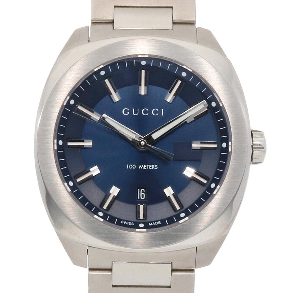 【送料無料】【中古】 GUCCI グッチ SS 腕時計 142.3 シルバー ブルー メンズ おしゃれ かっこいい おすすめ ギフト プレゼント ステンレススチール【SH】【BIM】