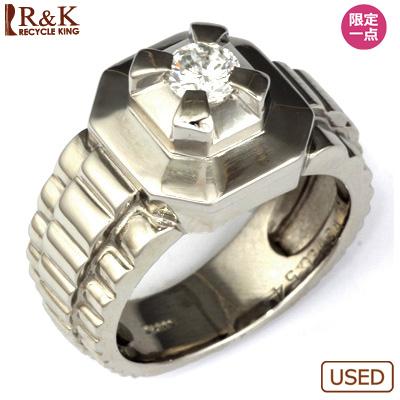 【送料無料】【中古】PT900 ダイヤメンズ リング D0.54 プラチナ男性 かっこいい 指輪 価格見直し3005