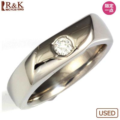 【送料無料】【中古】PT900 ダイヤメンズ リング D0.15 プラチナ男性 かっこいい 指輪 価格見直し0711