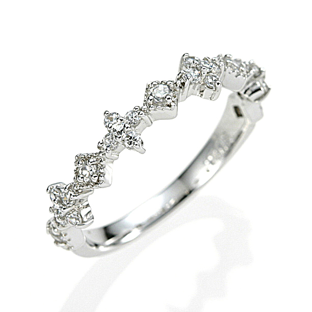 【送料無料】【新品】K10WG ダイヤモンド クラシカルライン ピンキーリング リング 指輪 10金 ファランジ おしゃれ レディース 女性 かわいい 大人 可愛い オシャレ アクセサリー アクセ 華奢 重ねづけ ギフト 誕生日