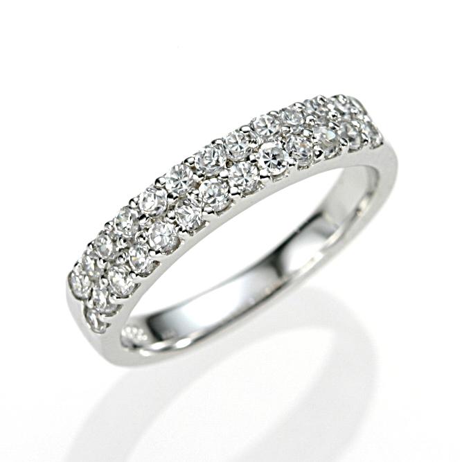 【送料無料】【新品】K10WG ダイヤパヴェピンキーリング 指輪 D0.50 10金 ファランジリング  おしゃれ レディース 女性 かわいい 可愛い オシャレ