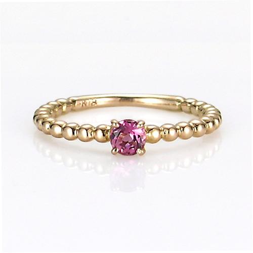 【送料無料】【新品】K10PG シンプルピンキーリング 指輪 ピンクトルマリン 10金 ファランジリング  おしゃれ レディース 女性 かわいい 可愛い オシャレ