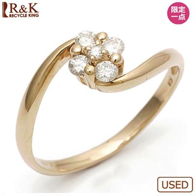 【送料無料】【中古】K18PG ダイヤモンドリング 指輪 D0.17 フラワー 18金ピンクゴールドおしゃれ レディース 女性 かわいい 可愛い オシャレ specialprice