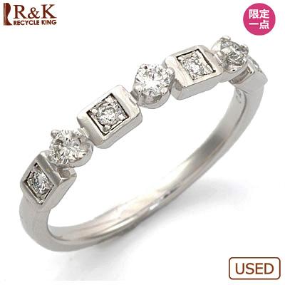 【送料無料】【中古】◎K18WG ダイヤモンドリング 指輪 D0.13 18金ホワイトゴールド おしゃれ レディース 女性 かわいい 可愛い オシャレ specialprice
