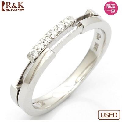 【送料無料】【中古】K18WG ダイヤモンドリング 指輪 D0.06 18金ホワイトゴールドおしゃれ レディース 女性 かわいい 可愛い オシャレ specialprice