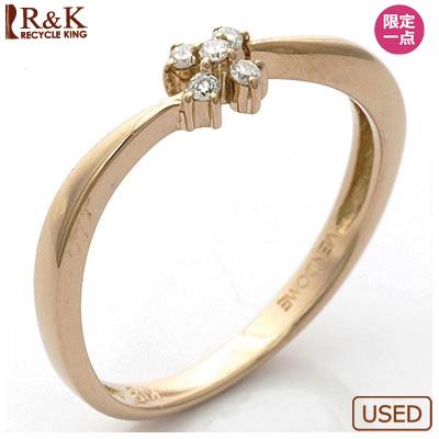 【送料無料】【中古】K18PG リング 指輪 ダイヤモンド フラワー 18金ピンクゴールドおしゃれ レディース 女性 かわいい 可愛い オシャレ specialprice2505
