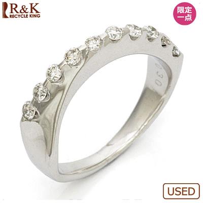【送料無料】【中古】○K18WG ダイヤモンドリング 指輪 D0.30 18金ホワイトゴールド おしゃれ レディース 女性 かわいい 可愛い オシャレ specialprice