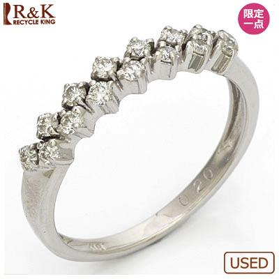 【送料無料】【中古】K18WG ダイヤモンドリング 指輪 D0.20 18金ホワイトゴールドおしゃれ レディース 女性 かわいい 可愛い オシャレ specialprice