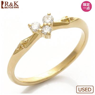 【送料無料】【中古】K18 ピンキーリング 指輪 ダイヤモンド ハート 18金おしゃれ レディース 女性 かわいい 可愛い オシャレ specialprice