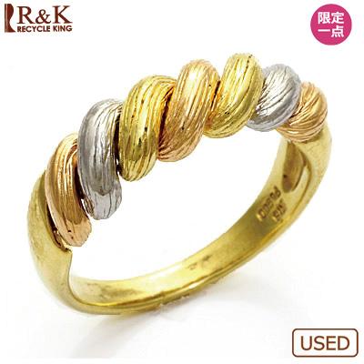 【送料無料】【中古】●K18/K18PG/PT900 リング 指輪 3カラー 18金 18金ピンクゴールド プラチナ おしゃれ レディース 女性 かわいい 可愛い オシャレ 価格見直し3005