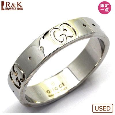 【送料無料】【中古】K18WG リング 指輪 GUCCI 14号 #15 18金ホワイトゴールド【BJ】 おしゃれ レディース 女性 かわいい 可愛い オシャレ sharel 価格見直し3005
