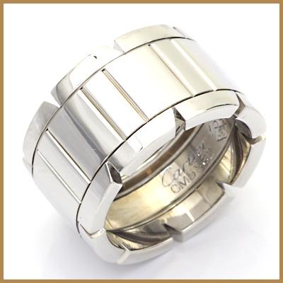 【送料無料】【中古】K18WG リング 指輪 Cartier 9.5号 #50 18金【BJ】 おしゃれ レディース 女性 かわいい 可愛い オシャレ sharel 価格見直し3005