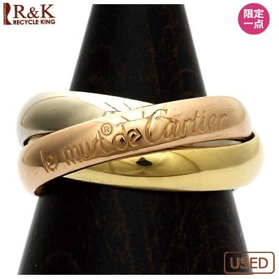 【送料無料】【中古】K18/PG/WG リング 指輪 Cartier 3連 3カラー 7号 #47 18金 18金ピンクゴールド 18金ホワイトゴールド【BJ】 おしゃれ レディース 女性 かわいい 可愛い オシャレ sharel 価格見直し3005