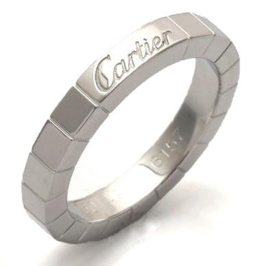 【送料無料】【中古】K18WG リング 指輪 Cartier 9号 #49 18金ホワイトゴールド【BJ】 おしゃれ レディース 女性 かわいい 可愛い オシャレ カルティエ ラニエール シンプル sharel 価格見直し0711