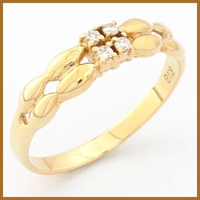 【送料無料】【中古】●K18 ダイヤモンドリング 指輪 D0.06 18金おしゃれ レディース 女性 かわいい 可愛い オシャレ 価格見直し3005