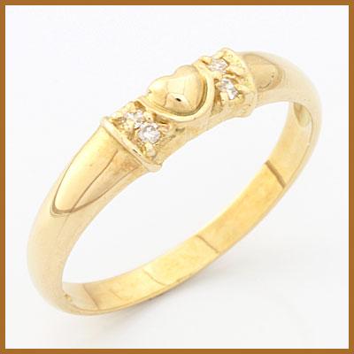 【送料無料】【中古】●K18 リング 指輪 ダイヤモンド ハート 18金おしゃれ レディース 女性 かわいい 可愛い オシャレ 価格見直し3005