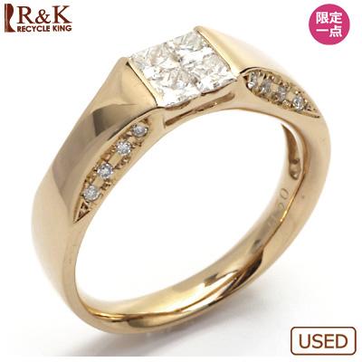 【送料無料】【中古】● K18PG ダイヤモンド リング 指輪 D0.50 ピンクゴールド 18金 0.5カラット おしゃれ レディース 女性 かわいい 可愛い オシャレ アクセサリー アクセ ダイヤ シンプル 華奢 価格見直し0711
