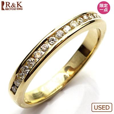 【送料無料】【中古】●K18 ダイヤモンドリング 指輪 ハーフエタニティ 18金おしゃれ レディース 女性 かわいい 可愛い オシャレ 価格見直し0711