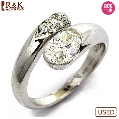 【送料無料】【中古】K18WG ダイヤモンドリング 指輪 BVLGARI 8号 18金ホワイトゴールド【BJ】 おしゃれ レディース 女性 かわいい 可愛い オシャレ 価格見直し0711