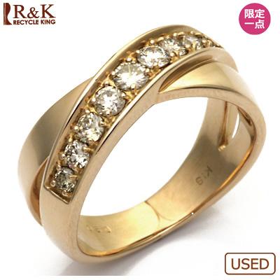 【送料無料】【中古】●K18PG ダイヤモンドリング D0.50 ピンクゴールドレディース 女性 可愛い カワイイ かわいい おしゃれ オシャレ 価格見直し3005