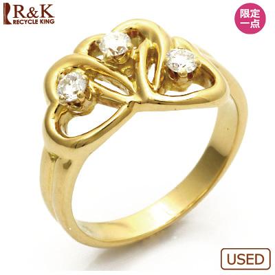 【送料無料】【中古】K18 ダイヤモンドリング 指輪 TIFFANY&CO. 9号 ハート 18金【BJ】 おしゃれ レディース 女性 かわいい 可愛い オシャレ sharel 価格見直し3005