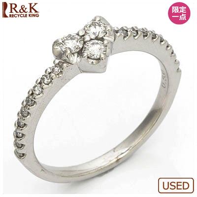 【送料無料】【中古】●K18WG ダイヤモンドリング 指輪 D0.30 ハート 18金ホワイトゴールド おしゃれ レディース 女性 かわいい 可愛い オシャレ 価格見直し3005