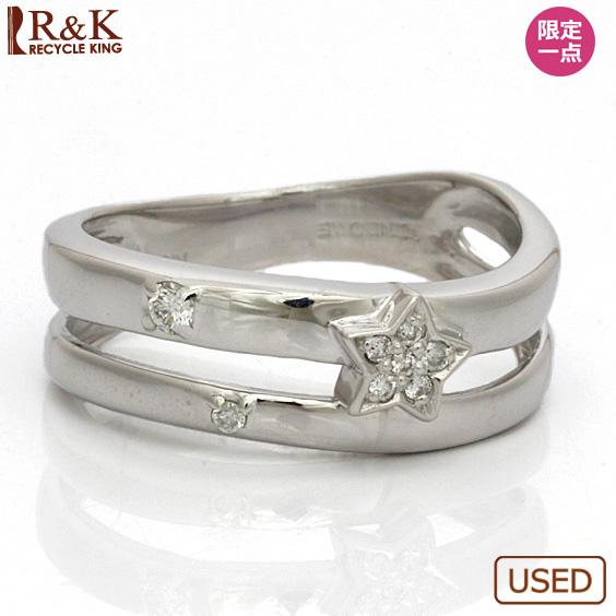 【送料無料】【中古】●K18WG リング ダイヤモンド 11号 スター 星 18金 ホワイトゴールド指輪 おしゃれ レディース 女性 かわいい 可愛い オシャレ アクセ アクセサリー プレゼント ギフト 価格見直し0711