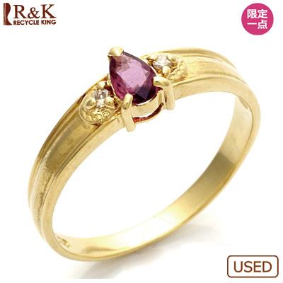 【送料無料】【中古】●K18 ダイヤモンドリング 指輪 ルビー 18金おしゃれ レディース 女性 かわいい 可愛い オシャレ 価格見直し3005