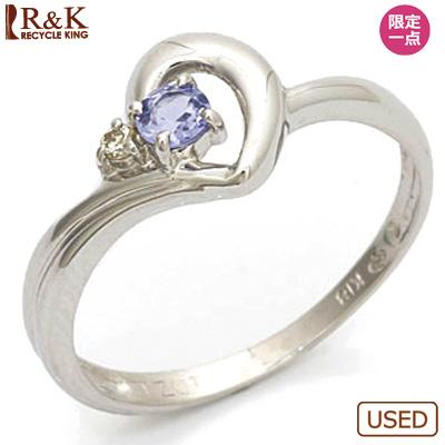 【送料無料】【中古】●K18WG リング 指輪 タンザナイト ダイヤモンド 18金ホワイトゴールドおしゃれ レディース 女性 かわいい 可愛い オシャレ 価格見直し3005