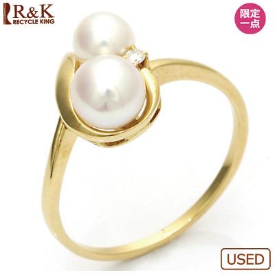 【送料無料】【中古】●K18 リング 指輪 パール ダイヤモンド 18金おしゃれ レディース 女性 かわいい 可愛い オシャレ 価格見直し3005