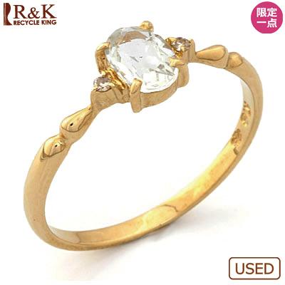 【送料無料】【中古】●K18 リング 指輪 アクアマリン ダイヤモンド 18金おしゃれ レディース 女性 かわいい 可愛い オシャレ 価格見直し0711