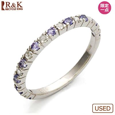 【送料無料】【中古】●K18WG ダイヤモンド リング 指輪 D0.15 タンザナイト 18金ホワイトゴールド おしゃれ レディース 女性 かわいい 可愛い オシャレ 価格見直し3005