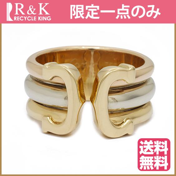 【中古】【送料無料】Cartier リング 指輪 K18 K18WG K18PG 2C 3カラー 8号 48# 18金 ゴールド ホワイトゴールド ピンクゴールド 18K カルティエ レディース 女性 おしゃれ 可愛い アクセサリー プレゼント 【BJ】 ※※
