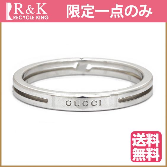 【中古】【送料無料】GUCCI リング 指輪 K18WG 9.5号 18金 ホワイトゴールド 18K グッチ レディース 女性 おしゃれ 可愛い アクセサリー プレゼント 【BJ】 ※※