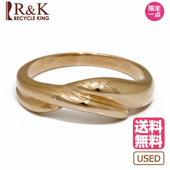【送料無料】【中古】リング 指輪 K18PG 曲線 シンプル 11.5号 18金 ピンクゴールド 18K レディース メンズ おしゃれ かわいい ギフト プレゼント ※ 【SH】