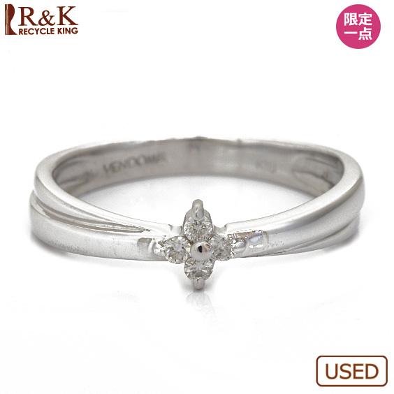 【中古】【送料無料】K18WG リング 指輪 ダイヤモンド 花 フラワー 9号 18金 ホワイトゴールド 18K レディース 女性 おしゃれ 可愛い アクセサリー プレゼント 価格見直し3005