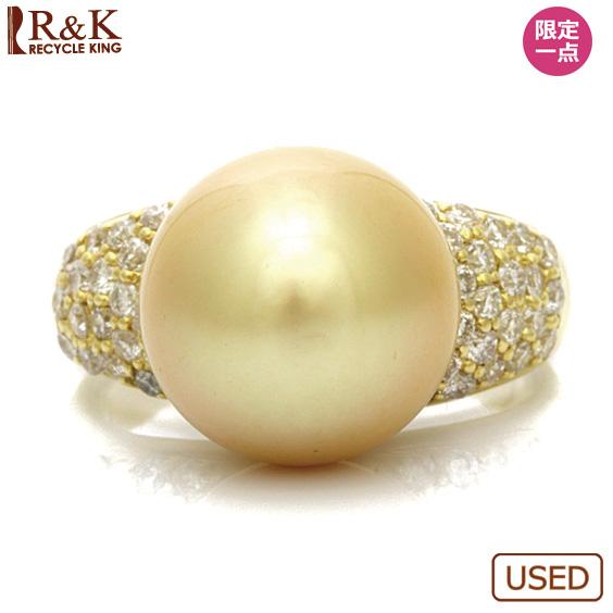 【送料無料】【中古】●K18 ダイヤモンドリング パール 12mm D0.70 14号 18金 ゴールド 18Kレディース女性 プレゼント おしゃれ ギフト 指輪 可愛い かわいい カワイイ 価格見直し3005