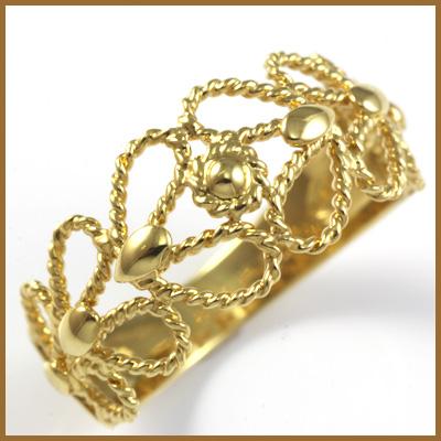 【送料無料】【中古】K18 リング 指輪 18金おしゃれ レディース 女性 かわいい 可愛い オシャレ 価格見直し3005