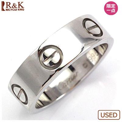 【送料無料】【中古】K18WG リング 指輪 Cartier 8号 #49 18金ホワイトゴールド【BJ】 おしゃれ レディース 女性 かわいい 可愛い オシャレ 価格見直し0711