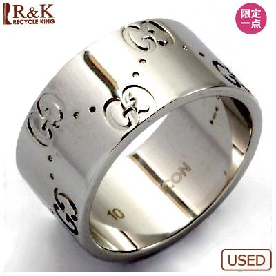 【送料無料】【中古】K18WG リング 指輪 GUCCI 9.5号 #10 18金【BJ】 おしゃれ レディース 女性 かわいい 可愛い オシャレ 価格見直し3005