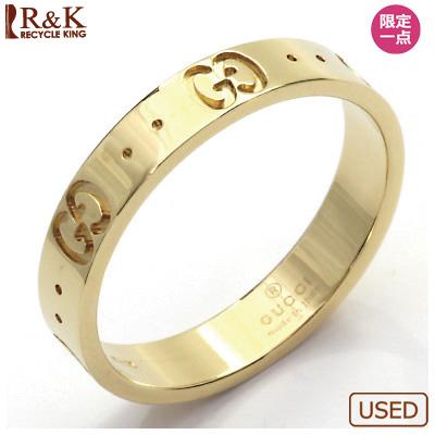 【送料無料】【中古】K18 リング 指輪 GUCCI 16.5号 #17 18金【BJ】 おしゃれ レディース 女性 かわいい 可愛い オシャレ sharel 価格見直し3005