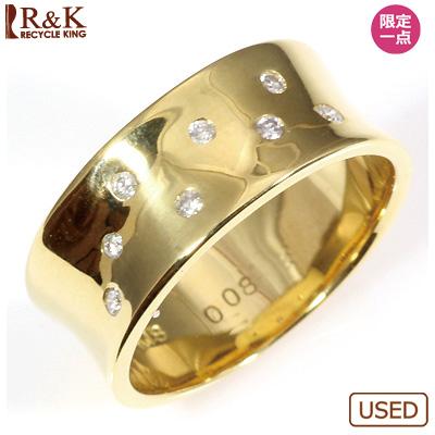 【送料無料】【中古】○■K18 ダイヤモンドリング 指輪 D0.08 おしゃれ レディース 女性 かわいい 可愛い オシャレ 価格見直し3005
