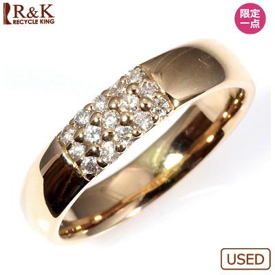 【送料無料】【中古】◎K18PG ダイヤピンキーリング 指輪 D0.15 ピンクゴールド ファランジリング おしゃれ レディース 女性 かわいい 可愛い オシャレ 価格見直し3005