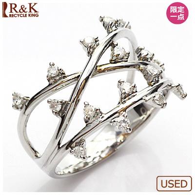 【送料無料】【中古】●K14WG ダイヤモンドリング 指輪 D0.20 14金ホワイトゴールド おしゃれ レディース 女性 かわいい 可愛い オシャレ 価格見直し0711