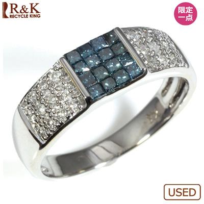 【送料無料】【中古】●K18WG ダイヤモンドリング 指輪 パヴェ おしゃれ レディース 女性 かわいい 可愛い オシャレ 価格見直し3005