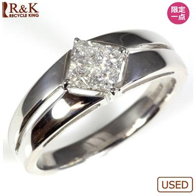 【送料無料】【中古】◎K18WG ダイヤモンドリング 指輪 D0.30 おしゃれ レディース 女性 かわいい 可愛い オシャレ 価格見直し3005
